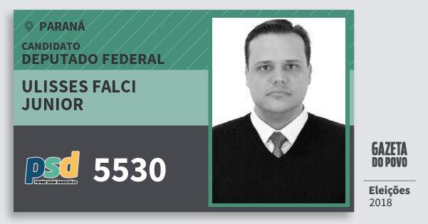 Santinho Ulisses Falci Junior 5530 (PSD) Deputado Federal | Paraná | Eleições 2018