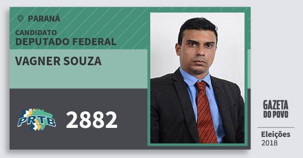 Santinho Vagner Souza 2882 (PRTB) Deputado Federal | Paraná | Eleições 2018