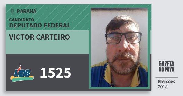 Santinho Victor Carteiro 1525 (MDB) Deputado Federal | Paraná | Eleições 2018