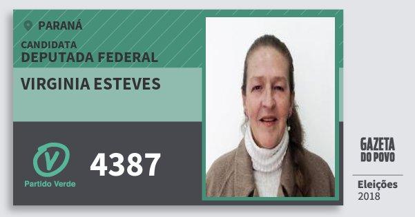 Santinho Virginia Esteves 4387 (PV) Deputada Federal | Paraná | Eleições 2018
