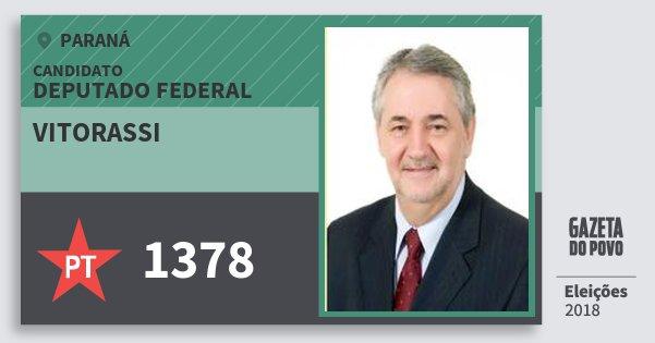 Santinho Vitorassi 1378 (PT) Deputado Federal | Paraná | Eleições 2018