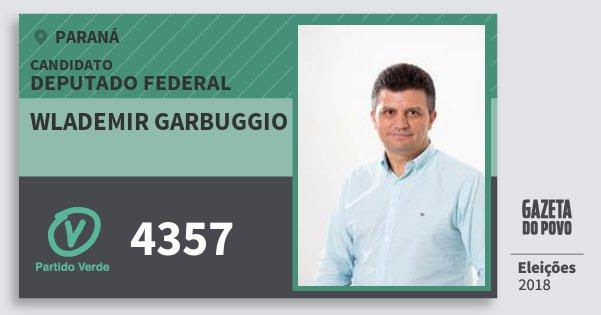 Santinho Wlademir Garbuggio 4357 (PV) Deputado Federal | Paraná | Eleições 2018
