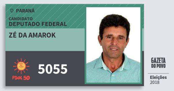 Santinho Zé da Amarok 5055 (PSOL) Deputado Federal | Paraná | Eleições 2018