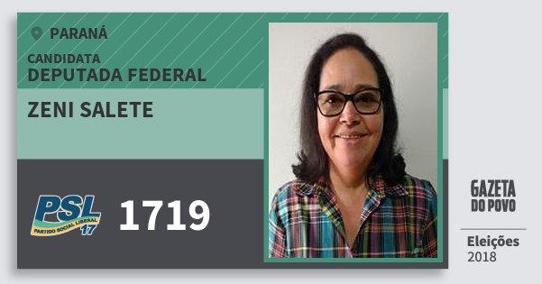 Santinho Zeni Salete 1719 (PSL) Deputada Federal | Paraná | Eleições 2018