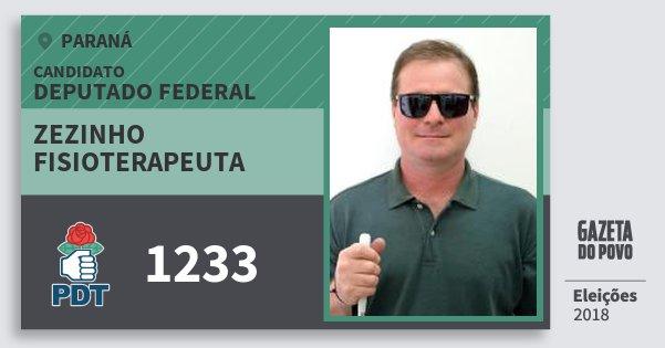 Santinho Zezinho Fisioterapeuta 1233 (PDT) Deputado Federal | Paraná | Eleições 2018