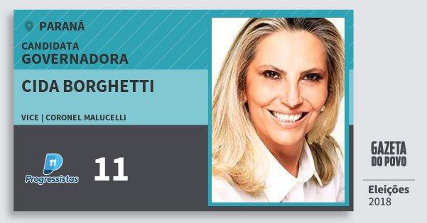 Santinho Cida Borghetti 11 (PP) Governadora | Paraná | Eleições 2018