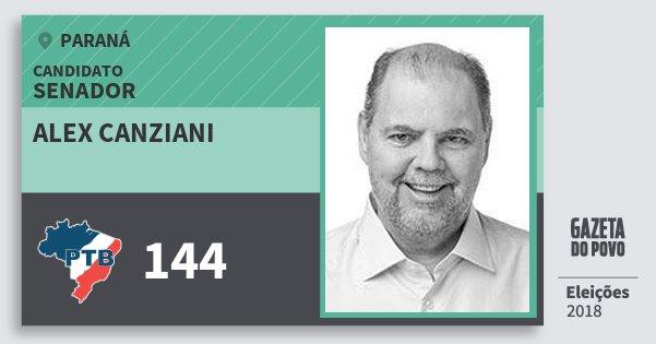 Santinho Alex Canziani 144 (PTB) Senador | Paraná | Eleições 2018