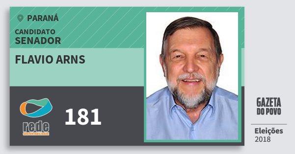 Santinho Flavio Arns 181 (REDE) Senador | Paraná | Eleições 2018