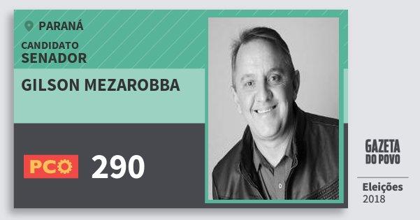 Santinho Gilson Mezarobba 290 (PCO) Senador | Paraná | Eleições 2018