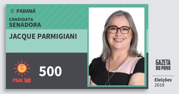 Santinho Jacque Parmigiani 500 (PSOL) Senadora | Paraná | Eleições 2018