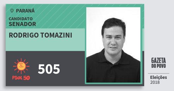 Santinho Rodrigo Tomazini 505 (PSOL) Senador | Paraná | Eleições 2018