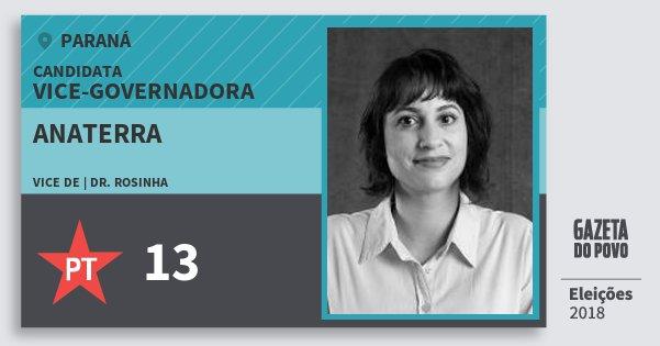 Santinho Anaterra 13 (PT) Vice-Governadora | Paraná | Eleições 2018
