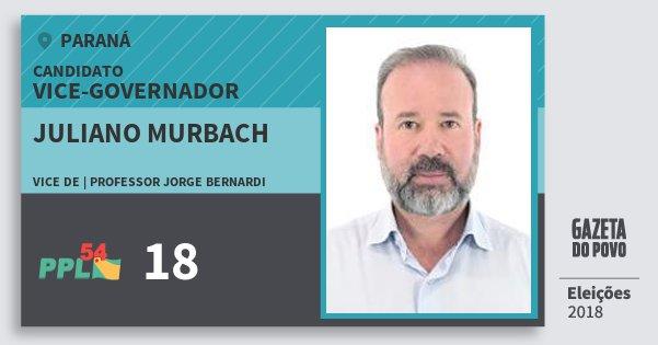 Santinho Juliano Murbach 18 (PPL) Vice-governador | Paraná | Eleições 2018