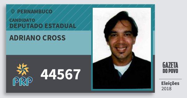 Santinho Adriano Cross 44567 (PRP) Deputado Estadual | Pernambuco | Eleições 2018