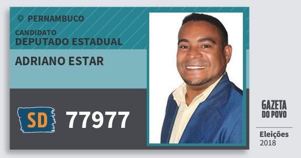 Santinho Adriano Estar 77977 (SOLIDARIEDADE) Deputado Estadual | Pernambuco | Eleições 2018