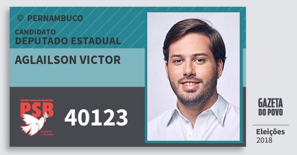 Santinho Aglailson Victor 40123 (PSB) Deputado Estadual | Pernambuco | Eleições 2018