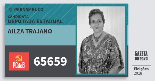 Santinho Ailza Trajano 65659 (PC do B) Deputada Estadual | Pernambuco | Eleições 2018