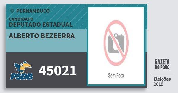 Santinho Alberto Bezeerra 45021 (PSDB) Deputado Estadual | Pernambuco | Eleições 2018