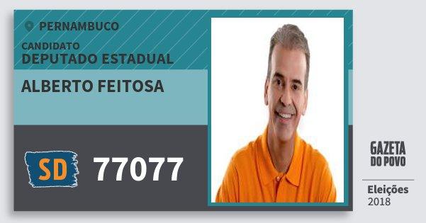 Santinho Alberto Feitosa 77077 (SOLIDARIEDADE) Deputado Estadual | Pernambuco | Eleições 2018