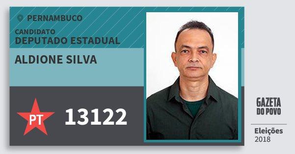 Santinho Aldione Silva 13122 (PT) Deputado Estadual | Pernambuco | Eleições 2018