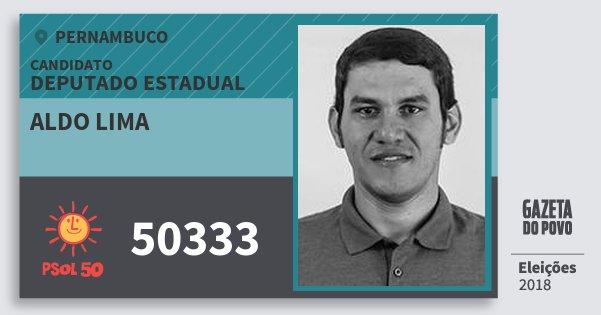 Santinho Aldo Lima 50333 (PSOL) Deputado Estadual | Pernambuco | Eleições 2018