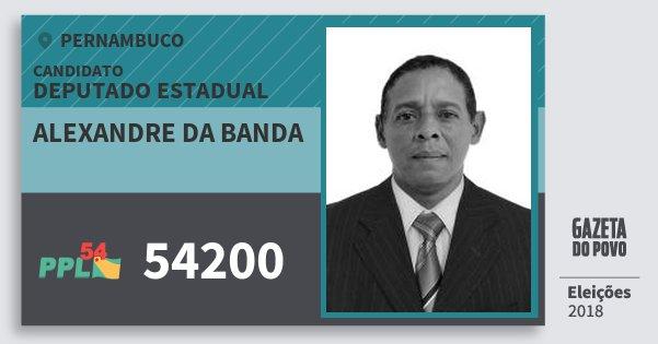 Santinho Alexandre da Banda 54200 (PPL) Deputado Estadual | Pernambuco | Eleições 2018