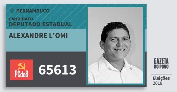 Santinho Alexandre L'omi 65613 (PC do B) Deputado Estadual | Pernambuco | Eleições 2018