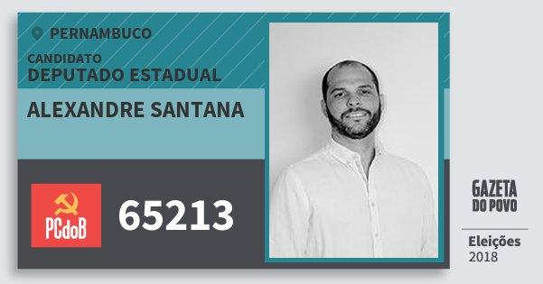 Santinho Alexandre Santana 65213 (PC do B) Deputado Estadual | Pernambuco | Eleições 2018