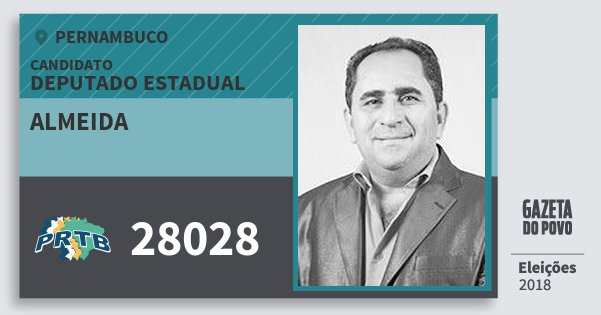 Santinho Almeida 28028 (PRTB) Deputado Estadual | Pernambuco | Eleições 2018