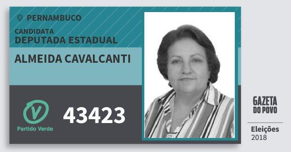 Santinho Almeida Cavalcanti 43423 (PV) Deputada Estadual | Pernambuco | Eleições 2018