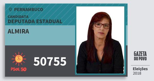Santinho Almira 50755 (PSOL) Deputada Estadual | Pernambuco | Eleições 2018