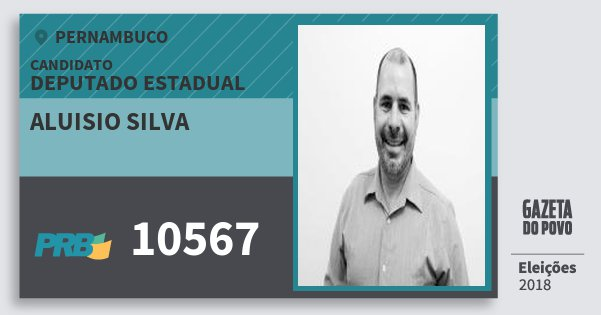 Santinho Aluisio Silva 10567 (PRB) Deputado Estadual   Pernambuco   Eleições 2018
