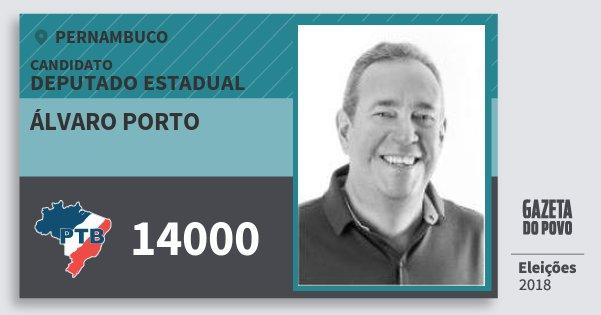 Santinho Álvaro Porto 14000 (PTB) Deputado Estadual | Pernambuco | Eleições 2018