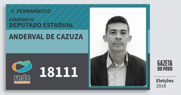 Santinho Anderval de Cazuza 18111 (REDE) Deputado Estadual | Pernambuco | Eleições 2018