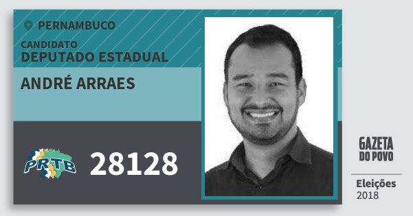 Santinho André Arraes 28128 (PRTB) Deputado Estadual | Pernambuco | Eleições 2018