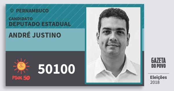 Santinho André Justino 50100 (PSOL) Deputado Estadual | Pernambuco | Eleições 2018