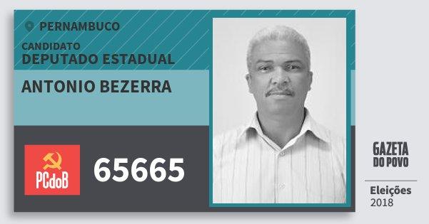 Santinho Antonio Bezerra 65665 (PC do B) Deputado Estadual | Pernambuco | Eleições 2018