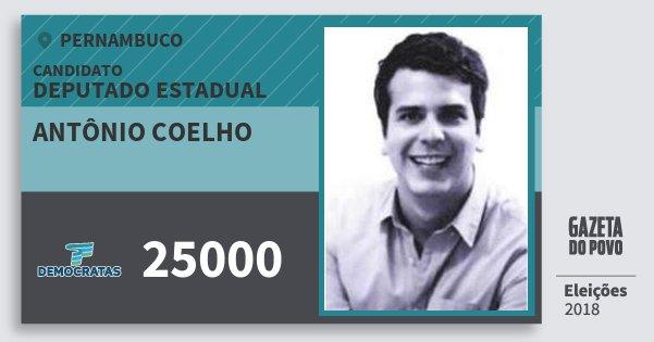 Santinho Antônio Coelho 25000 (DEM) Deputado Estadual | Pernambuco | Eleições 2018