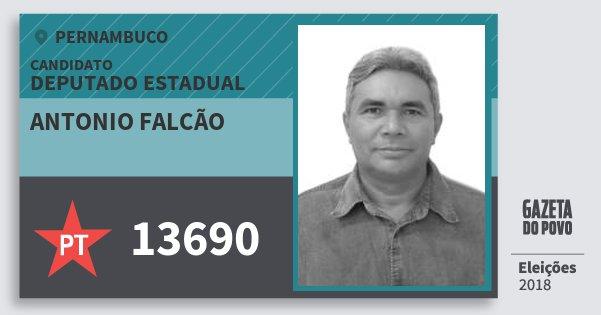 Santinho Antonio Falcão 13690 (PT) Deputado Estadual | Pernambuco | Eleições 2018