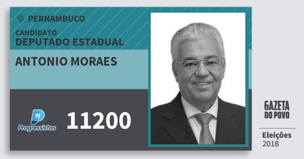 Santinho Antonio Moraes 11200 (PP) Deputado Estadual | Pernambuco | Eleições 2018