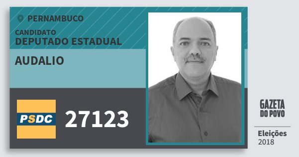 Santinho Audalio 27123 (DC) Deputado Estadual | Pernambuco | Eleições 2018