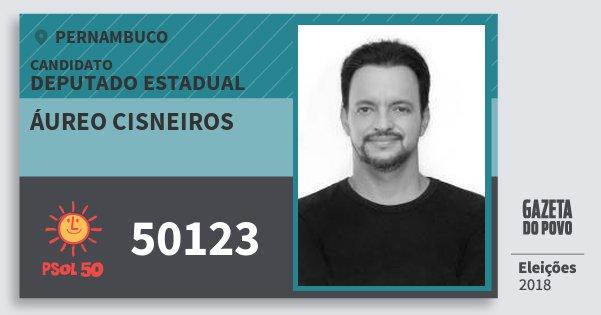 Santinho Áureo Cisneiros 50123 (PSOL) Deputado Estadual | Pernambuco | Eleições 2018