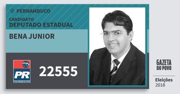Santinho Bena Junior 22555 (PR) Deputado Estadual   Pernambuco   Eleições 2018