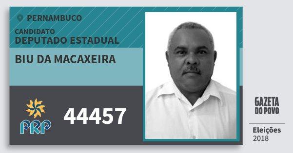 Santinho Biu da Macaxeira 44457 (PRP) Deputado Estadual | Pernambuco | Eleições 2018