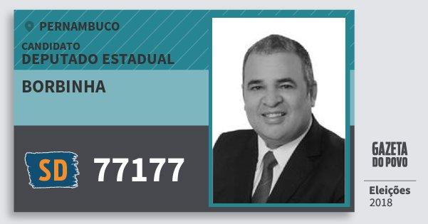 Santinho Borbinha 77177 (SOLIDARIEDADE) Deputado Estadual | Pernambuco | Eleições 2018