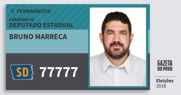 Santinho Bruno Marreca 77777 (SOLIDARIEDADE) Deputado Estadual | Pernambuco | Eleições 2018