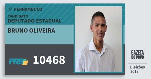 Santinho Bruno Oliveira 10468 (PRB) Deputado Estadual | Pernambuco | Eleições 2018