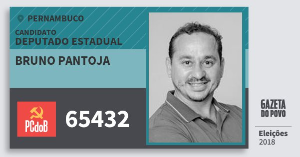 Santinho Bruno Pantoja 65432 (PC do B) Deputado Estadual | Pernambuco | Eleições 2018