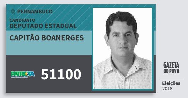 Santinho Capitão Boanerges 51100 (PATRI) Deputado Estadual | Pernambuco | Eleições 2018
