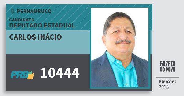 Santinho Carlos Inácio 10444 (PRB) Deputado Estadual | Pernambuco | Eleições 2018